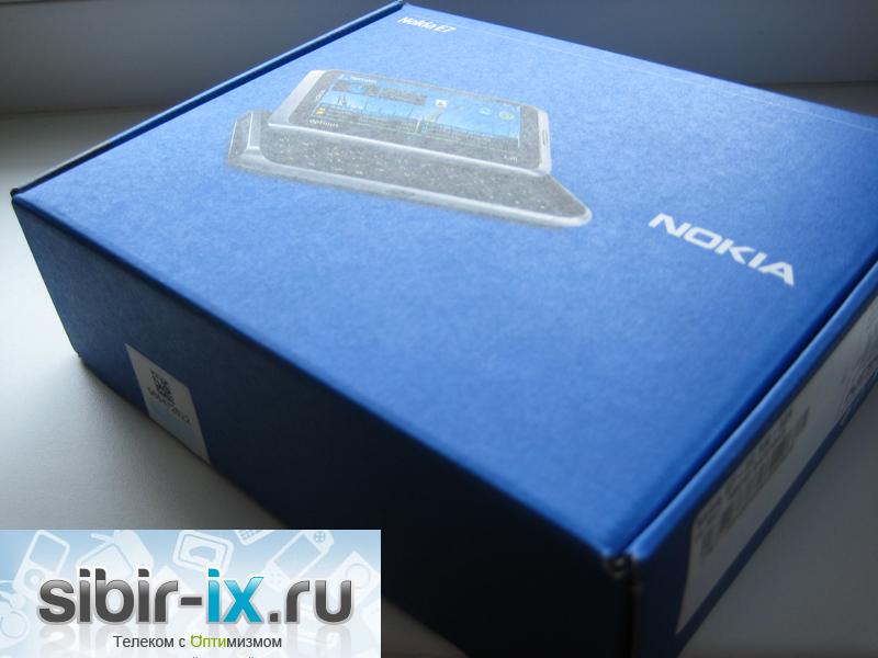 Nokia E7 коробка