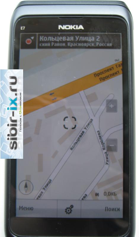 Nokia E7 карты