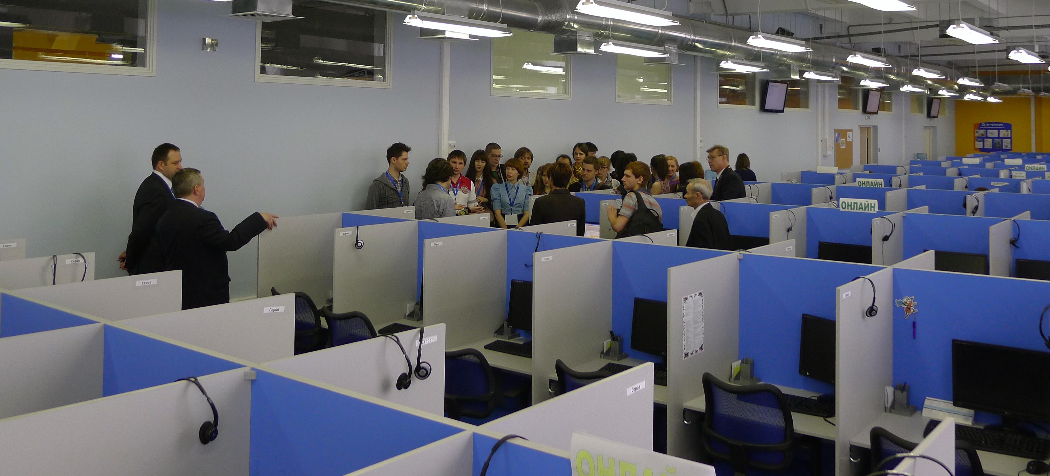 журналисты в контакт-центре ЭР-Телеком