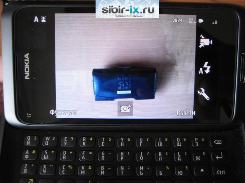 Nokia E7 камера